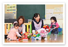 7.学内に保育園を併設