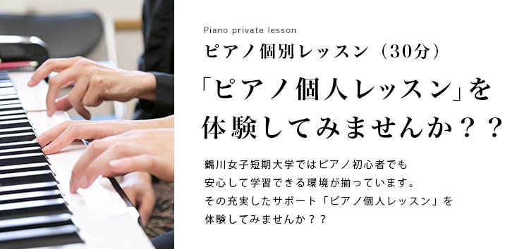ピアノ個別レッスン(30分)